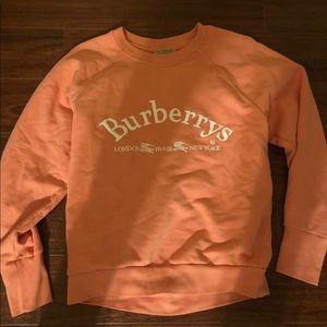 Burberry battarni logo embroided sweatshirt